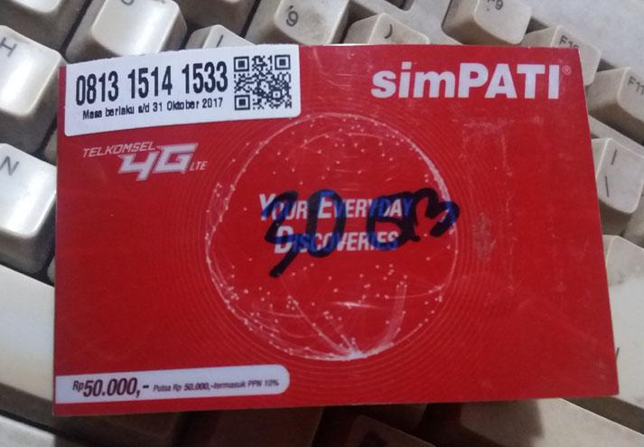 Perdana SIMPATI 30GB murah dan sering ngga nyambung hilang koneksi internet