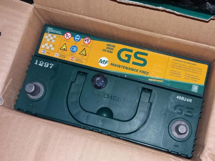 harga aki GS ns60 astra