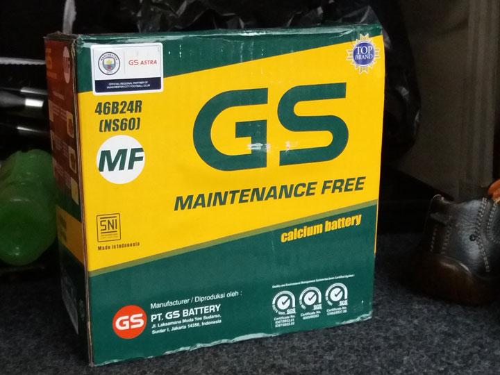 harga aki atau battery GS astra NS60